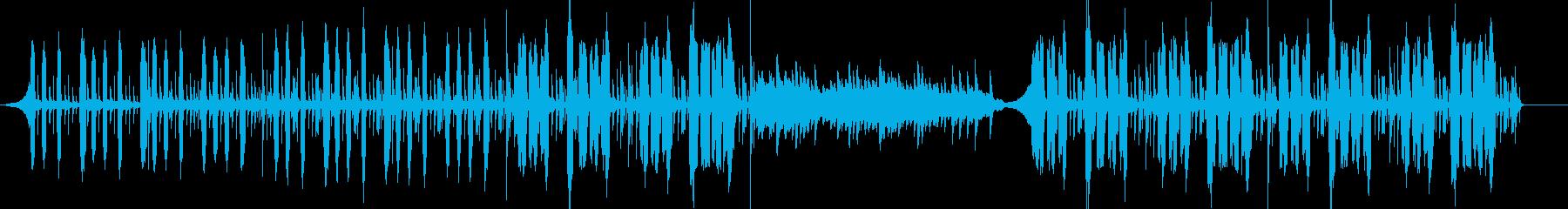 ピアノメインの優しい温かみのあるポップの再生済みの波形