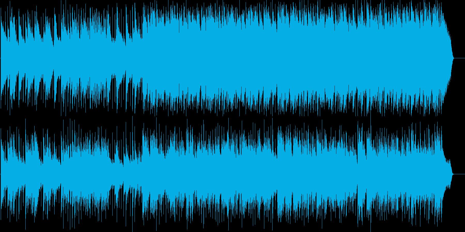 しっとりとして綺麗なイメージのポップスの再生済みの波形