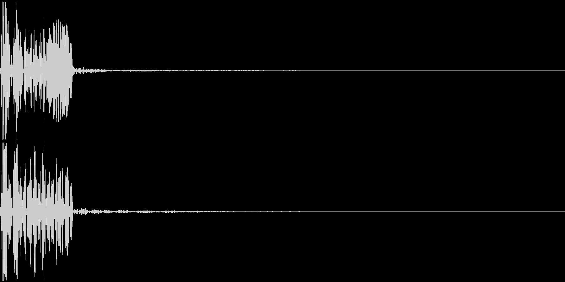 ドン(Hit_ダメージを受ける)の未再生の波形