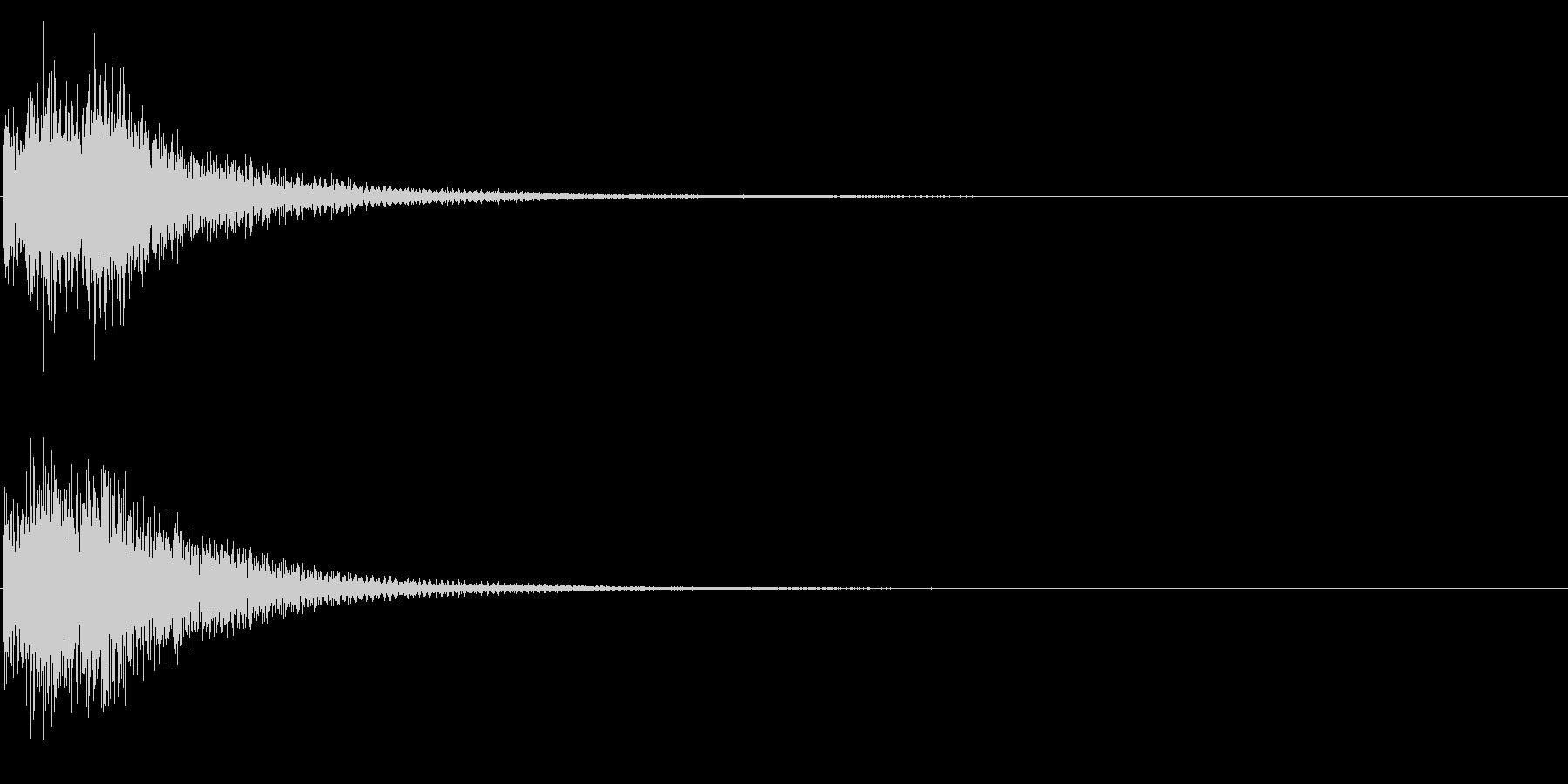 決定音/シンセサイザー/タラン↑の未再生の波形