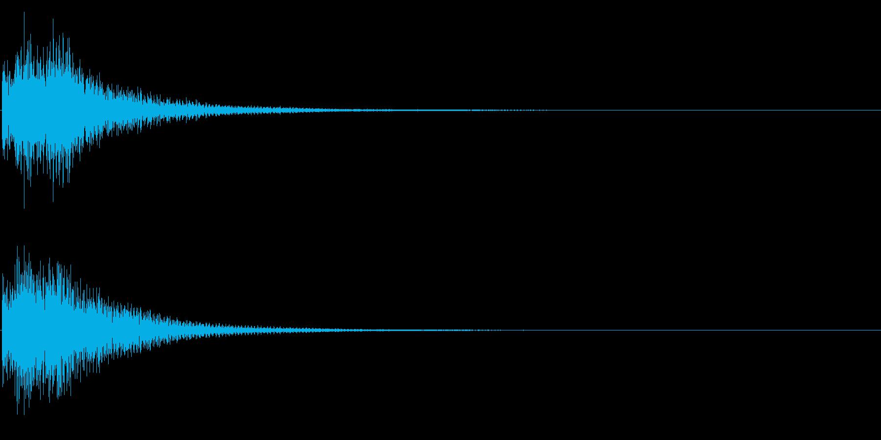 決定音/シンセサイザー/タラン↑の再生済みの波形