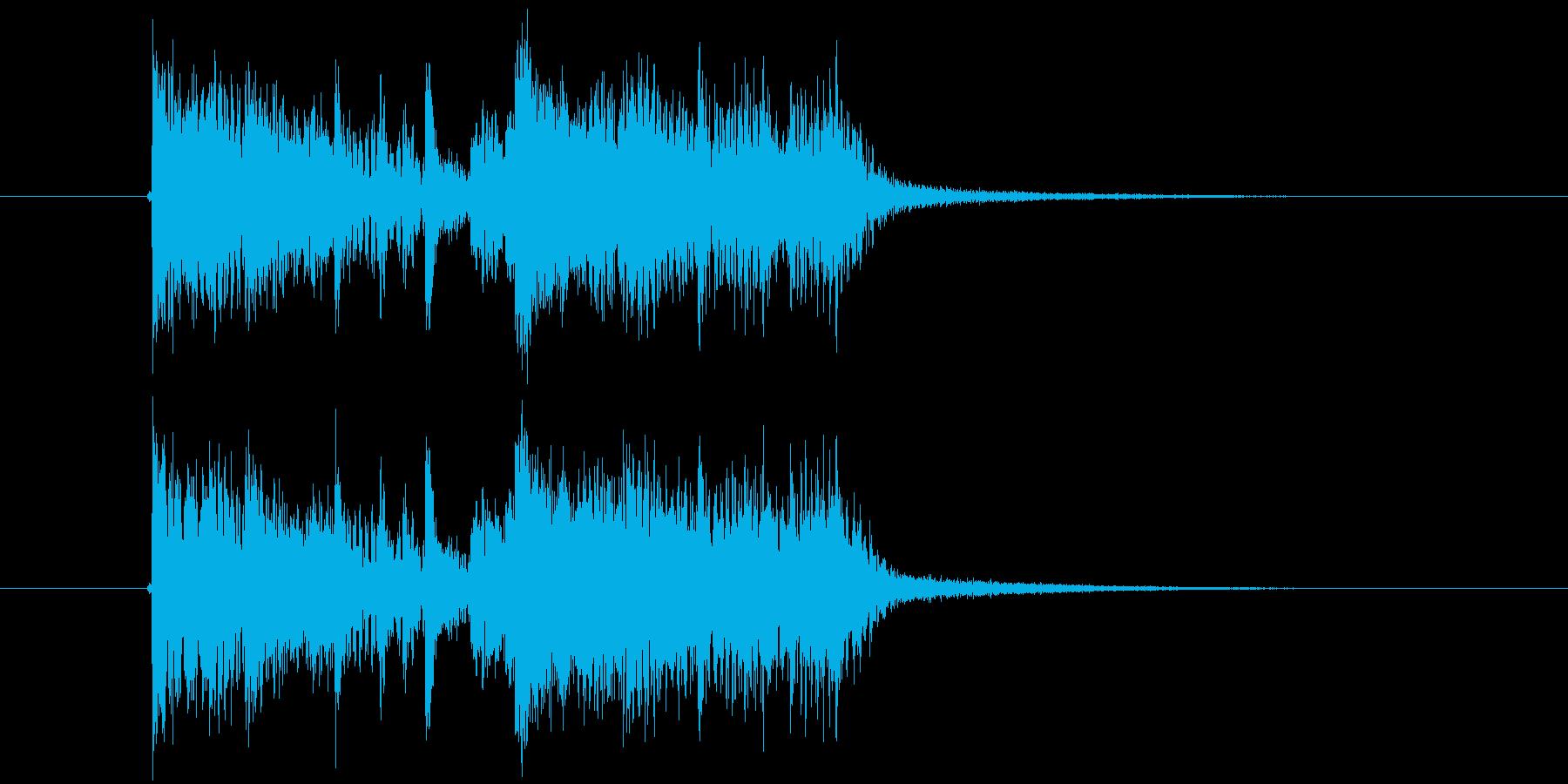 高速クラブサウンド系ジングル。の再生済みの波形