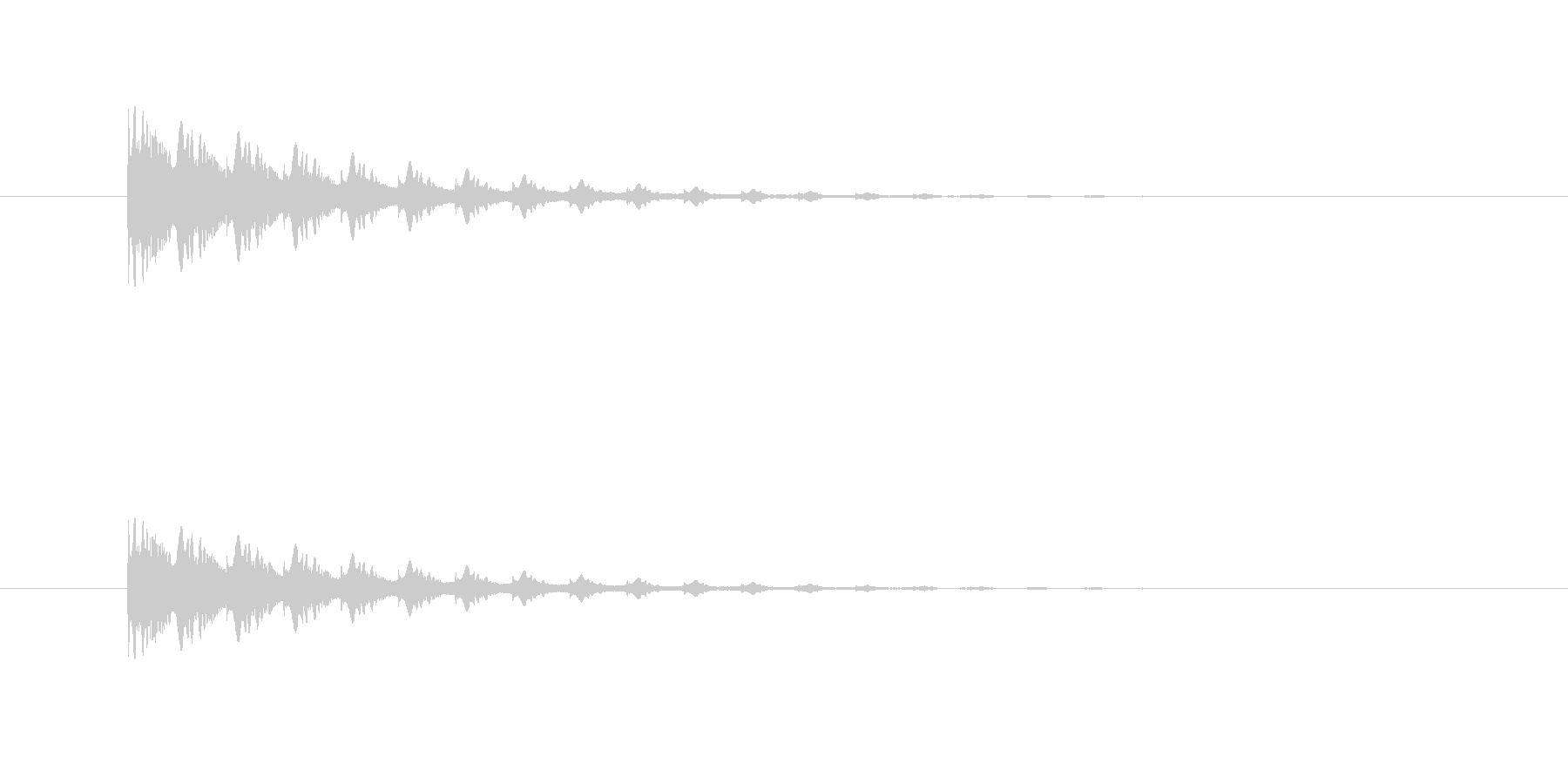 ポヨヨヨン(マシーン、ワープ)の未再生の波形