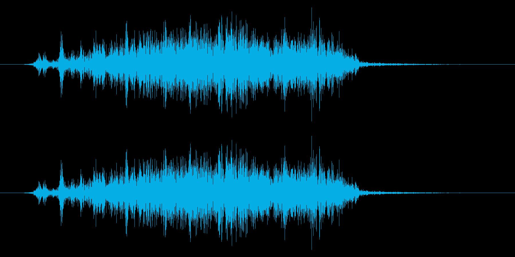 開封/ダンボール/ビリーッ/カッターの再生済みの波形