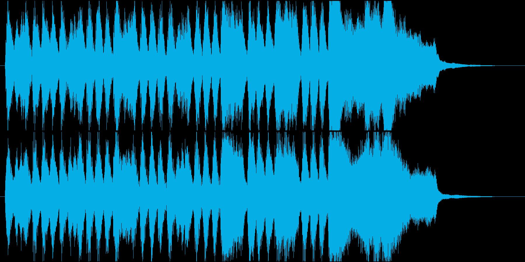オーケストラのファンファーレ。ゲーム等にの再生済みの波形