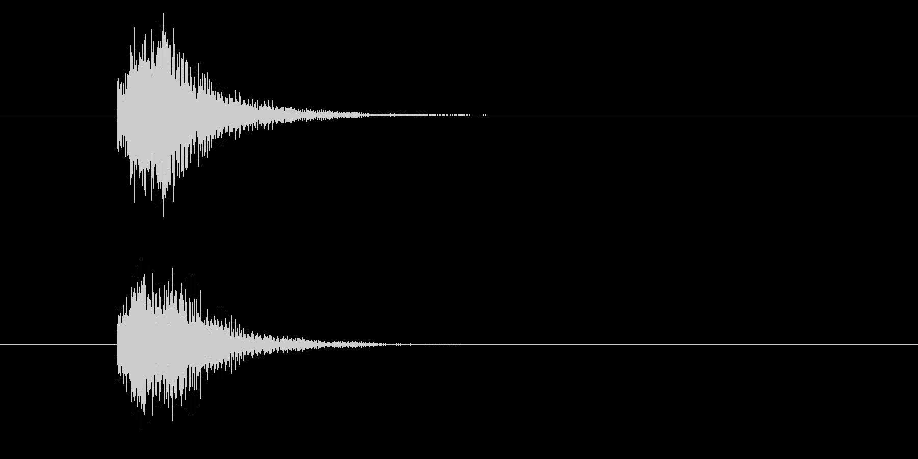 ジャン!豪華なオケヒその2_音程高めの未再生の波形