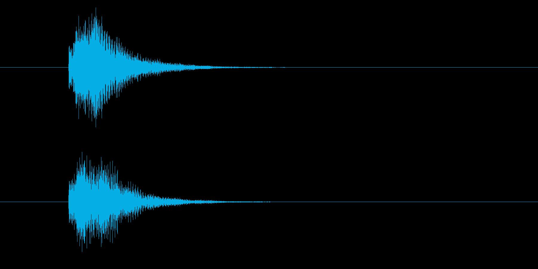 ジャン!豪華なオケヒその2_音程高めの再生済みの波形
