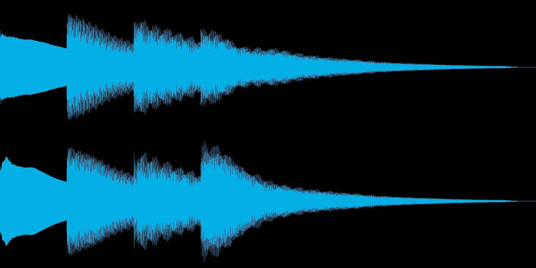 ピンポンパンポン/お知らせ/校内放送の再生済みの波形
