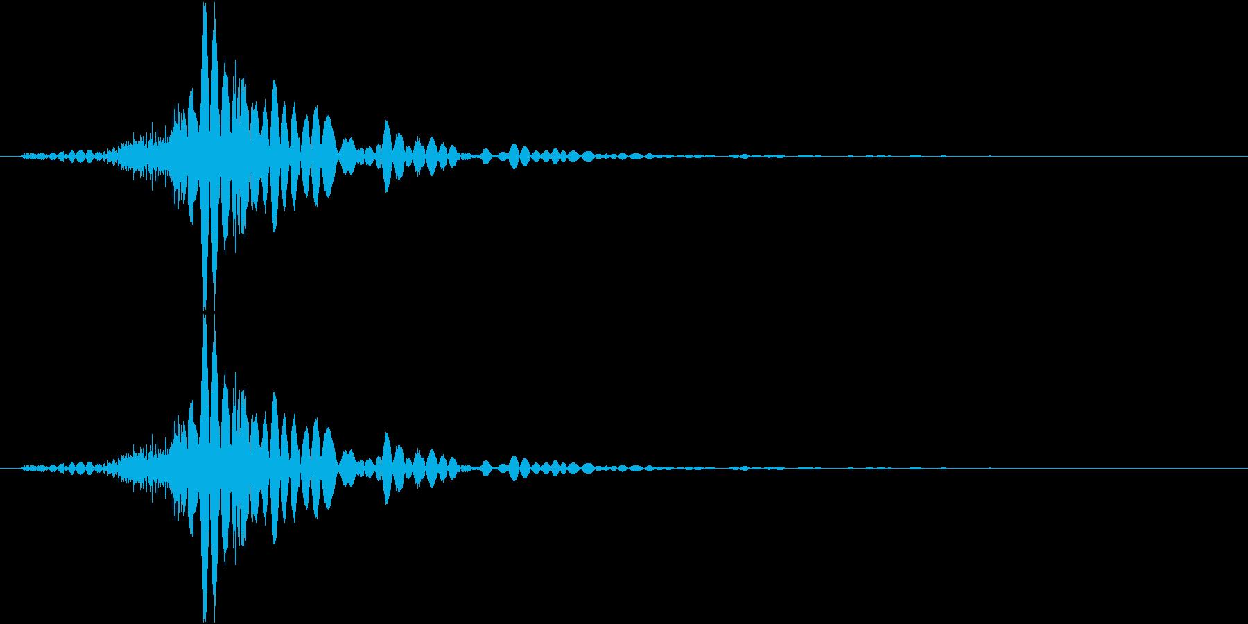 打撃、衝撃の再生済みの波形