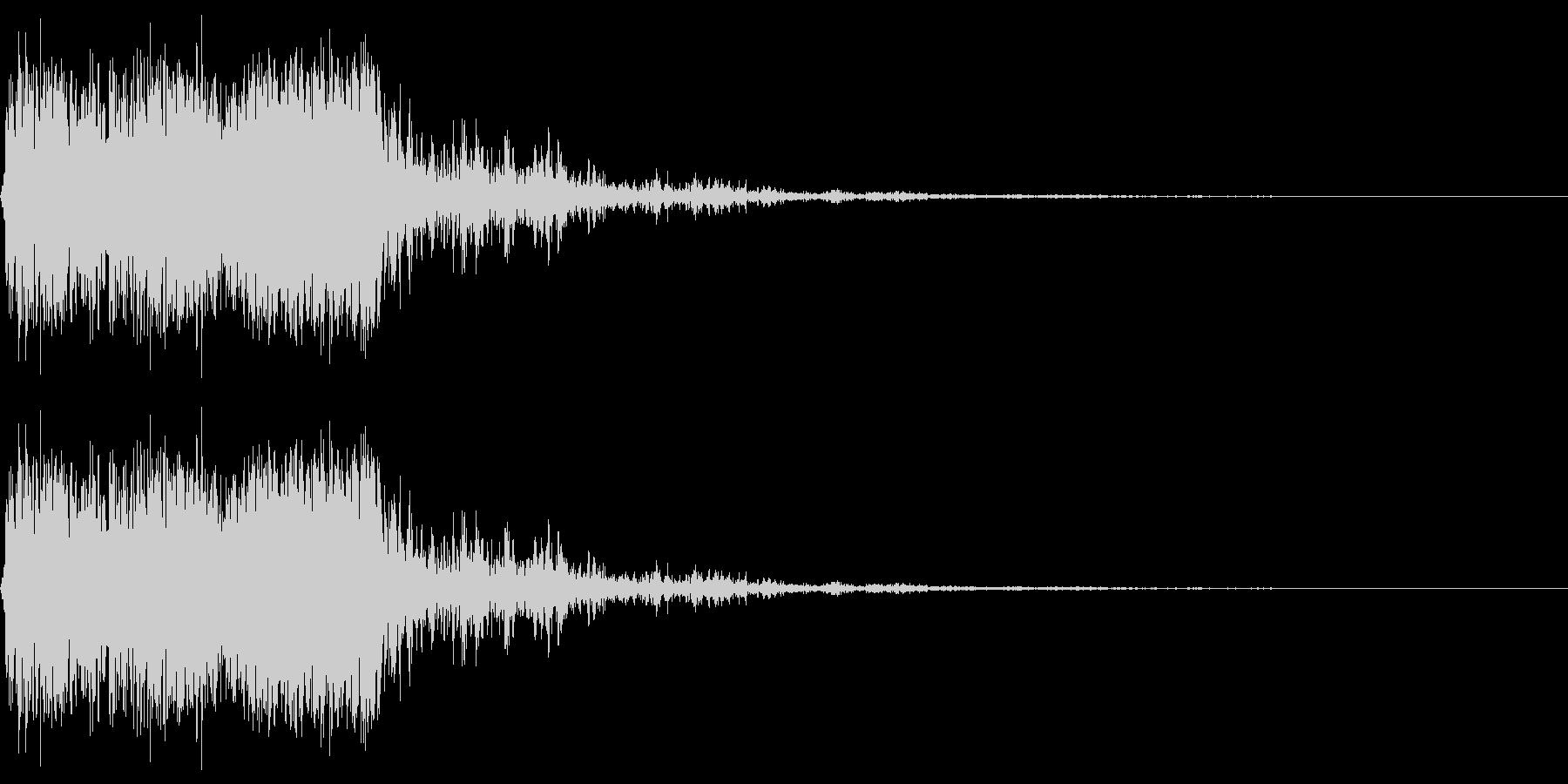 昔のゲームの様な非リアルな打撃音のイメ…の未再生の波形