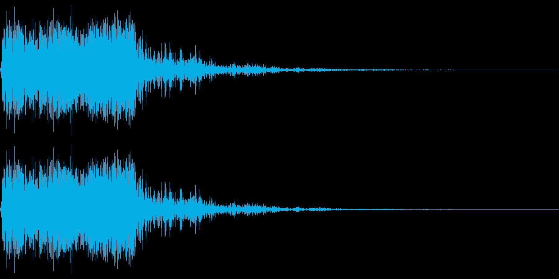 昔のゲームの様な非リアルな打撃音のイメ…の再生済みの波形