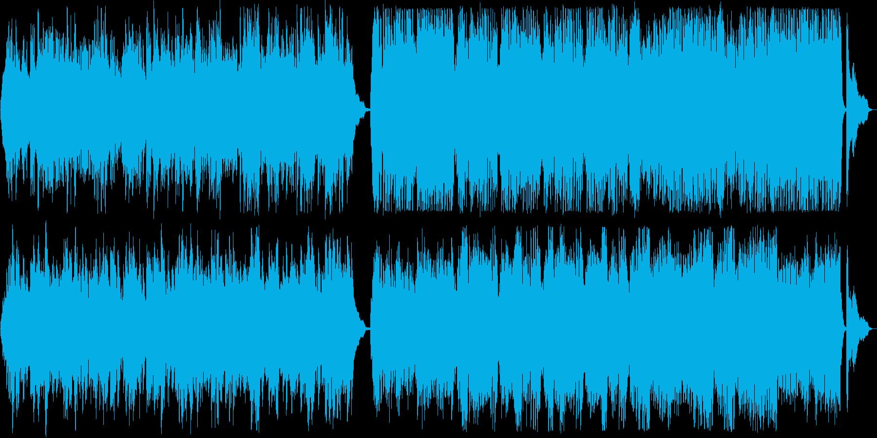 流れるような美しいバイオリンとピアノの曲の再生済みの波形