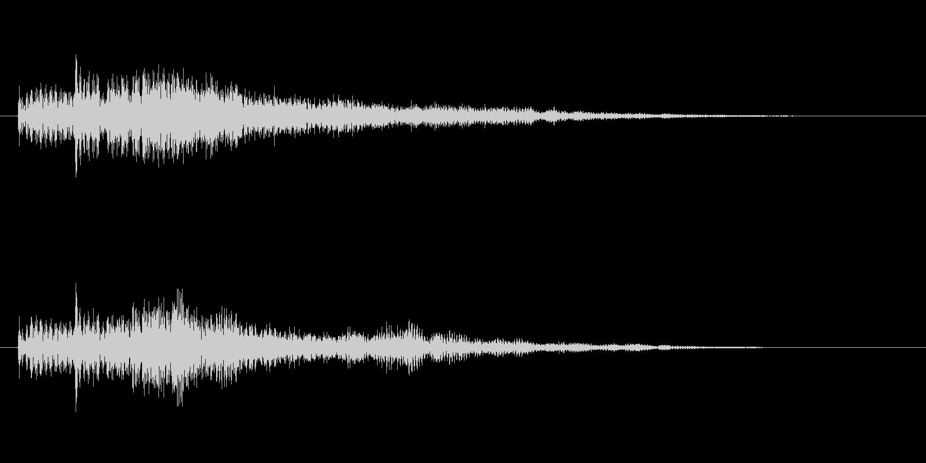 レベルアップ用音源オーケストラテクノ音源の未再生の波形