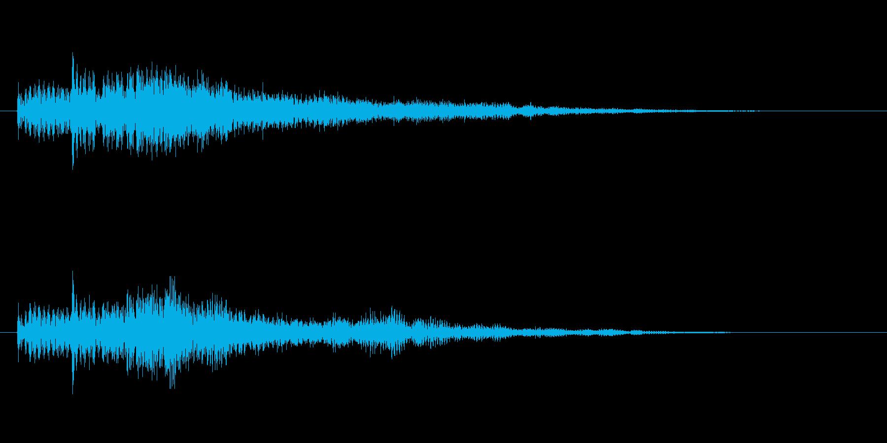 レベルアップ用音源オーケストラテクノ音源の再生済みの波形