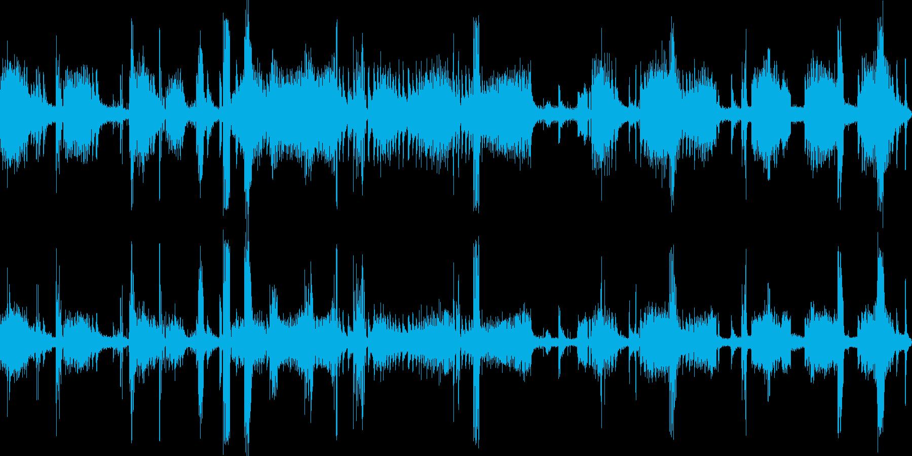 沈没船内部(不気味な木のきしみ)の再生済みの波形