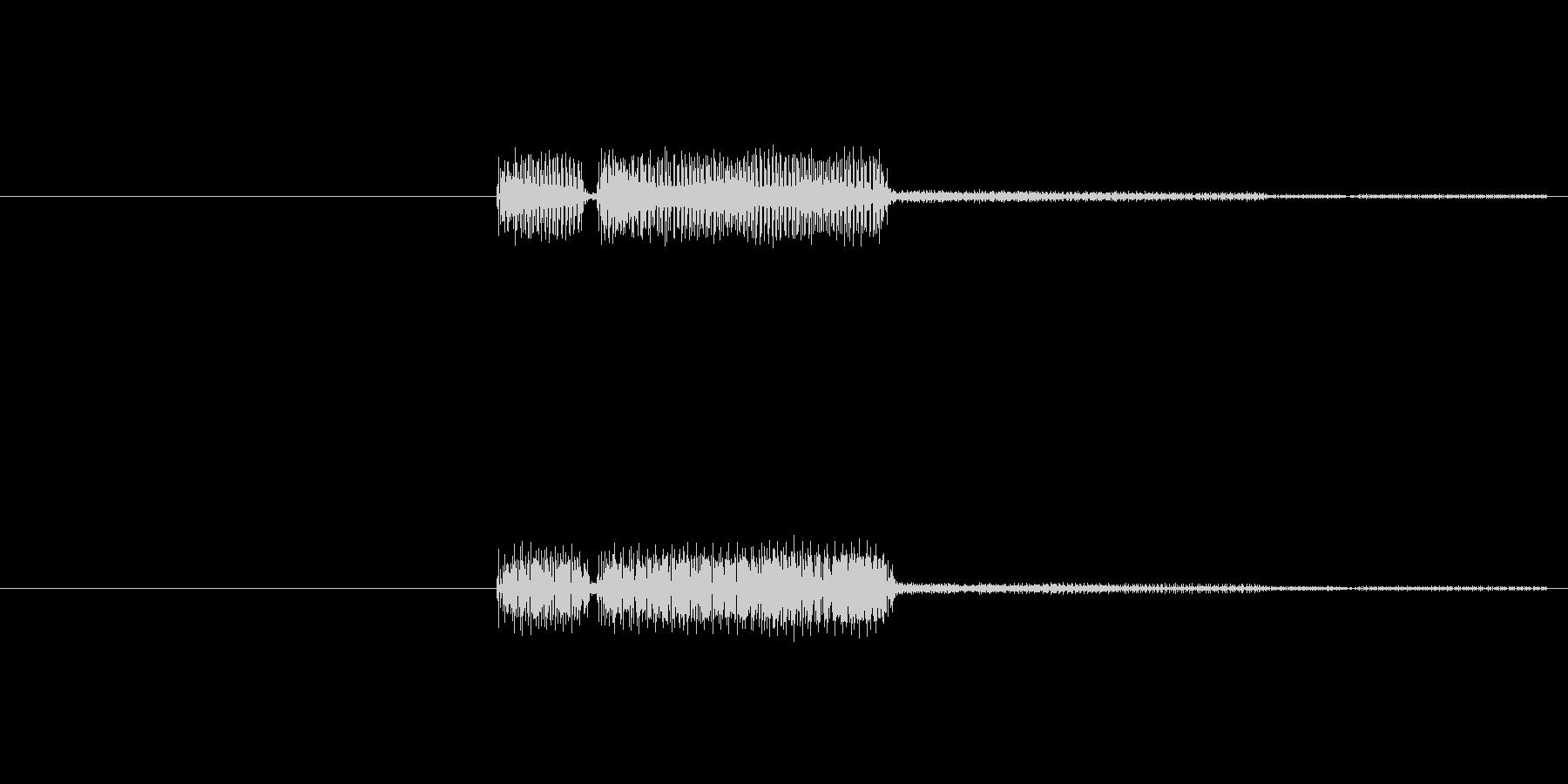 不正解の時に流れるビープ音です。シンプ…の未再生の波形
