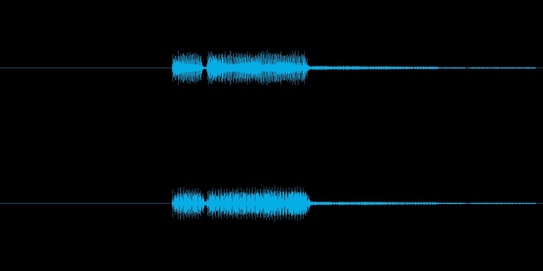 不正解の時に流れるビープ音です。シンプ…の再生済みの波形