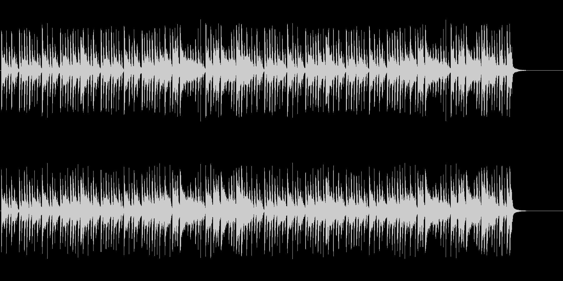 スティールパンによるほのぼのした曲の未再生の波形