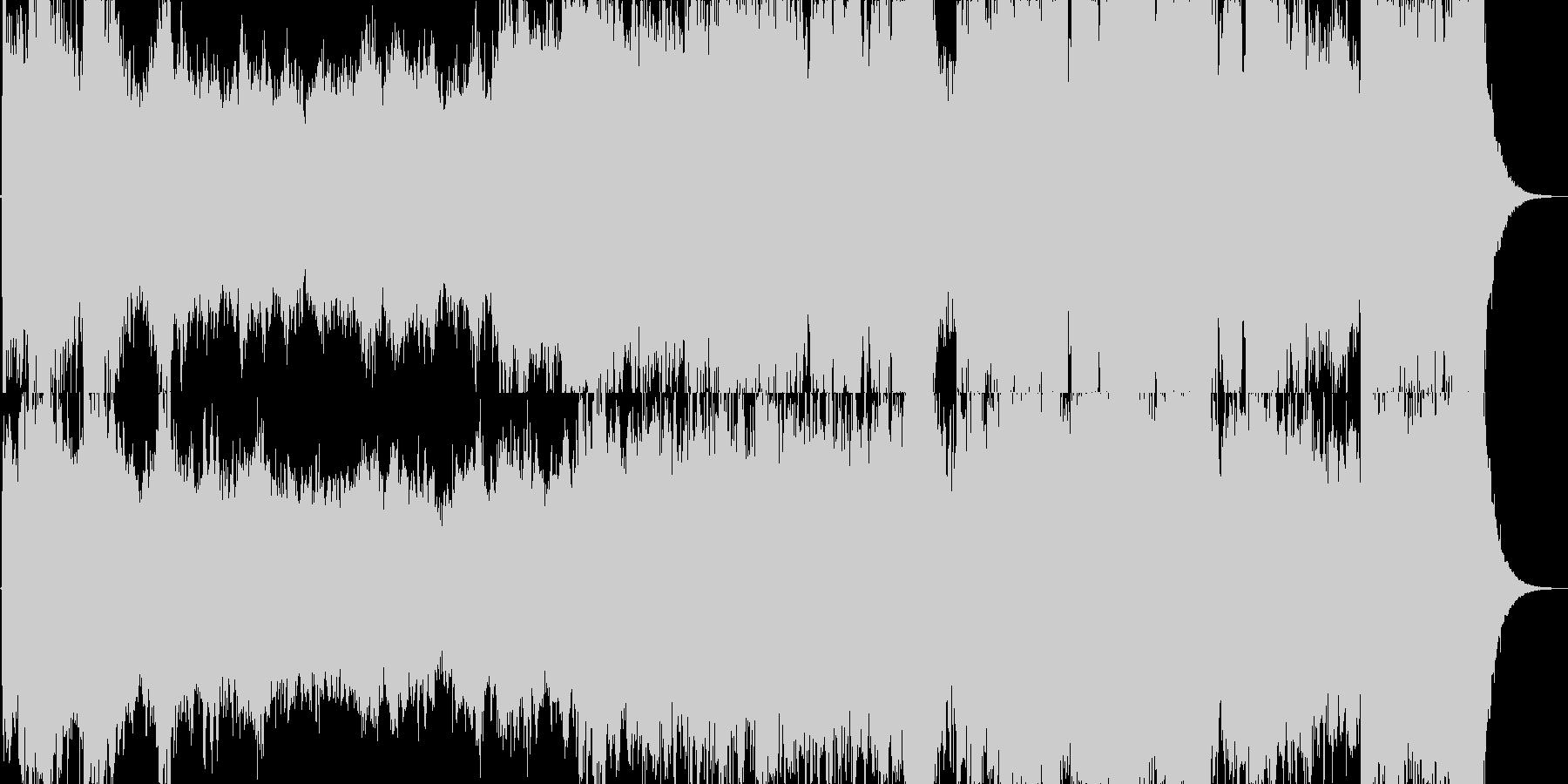 壮大な雰囲気のオーケストラジングルの未再生の波形