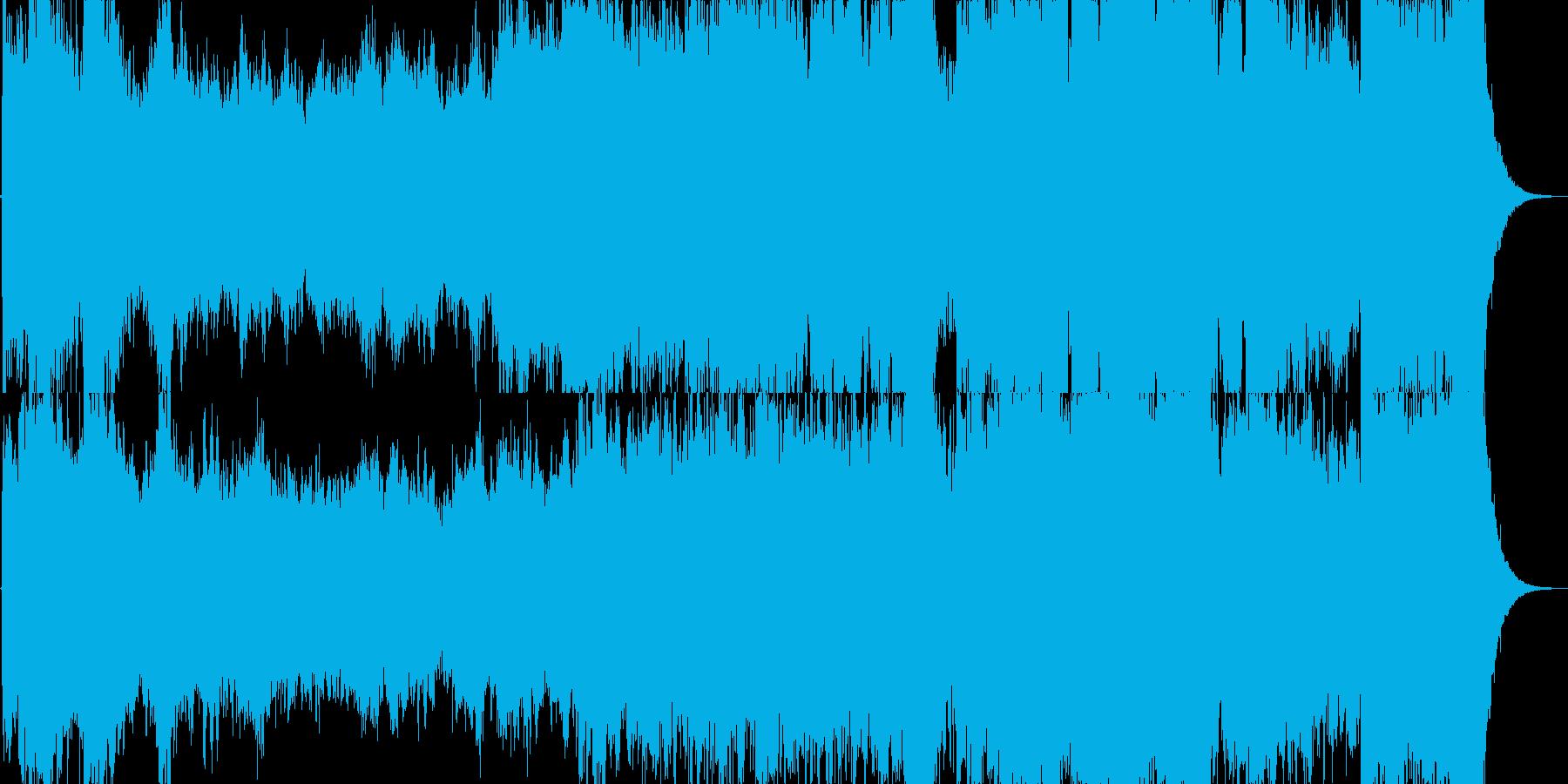 壮大な雰囲気のオーケストラジングルの再生済みの波形