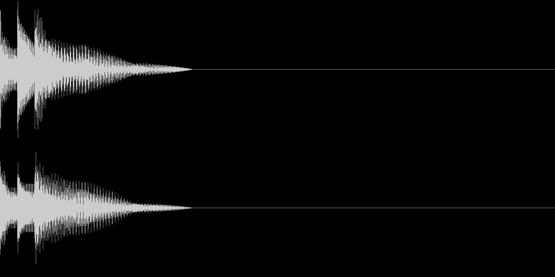 Cursor セレクト・カーソルの音11の未再生の波形