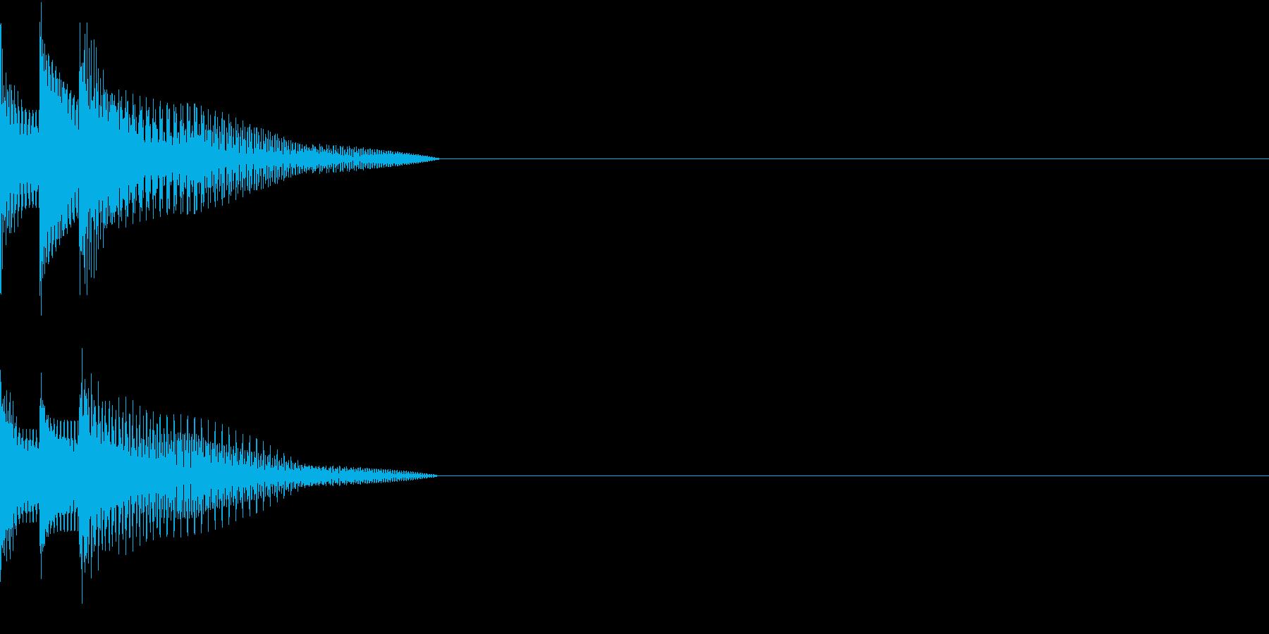 Cursor セレクト・カーソルの音11の再生済みの波形