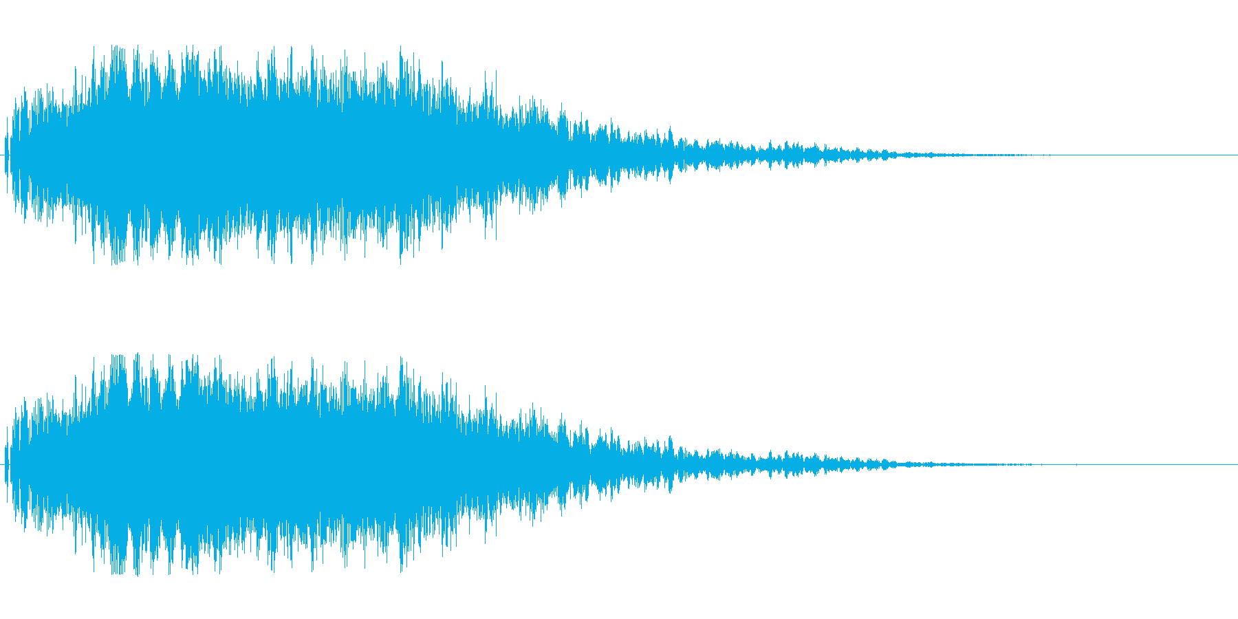 大爆発。ドカーン。ズシャーンの再生済みの波形