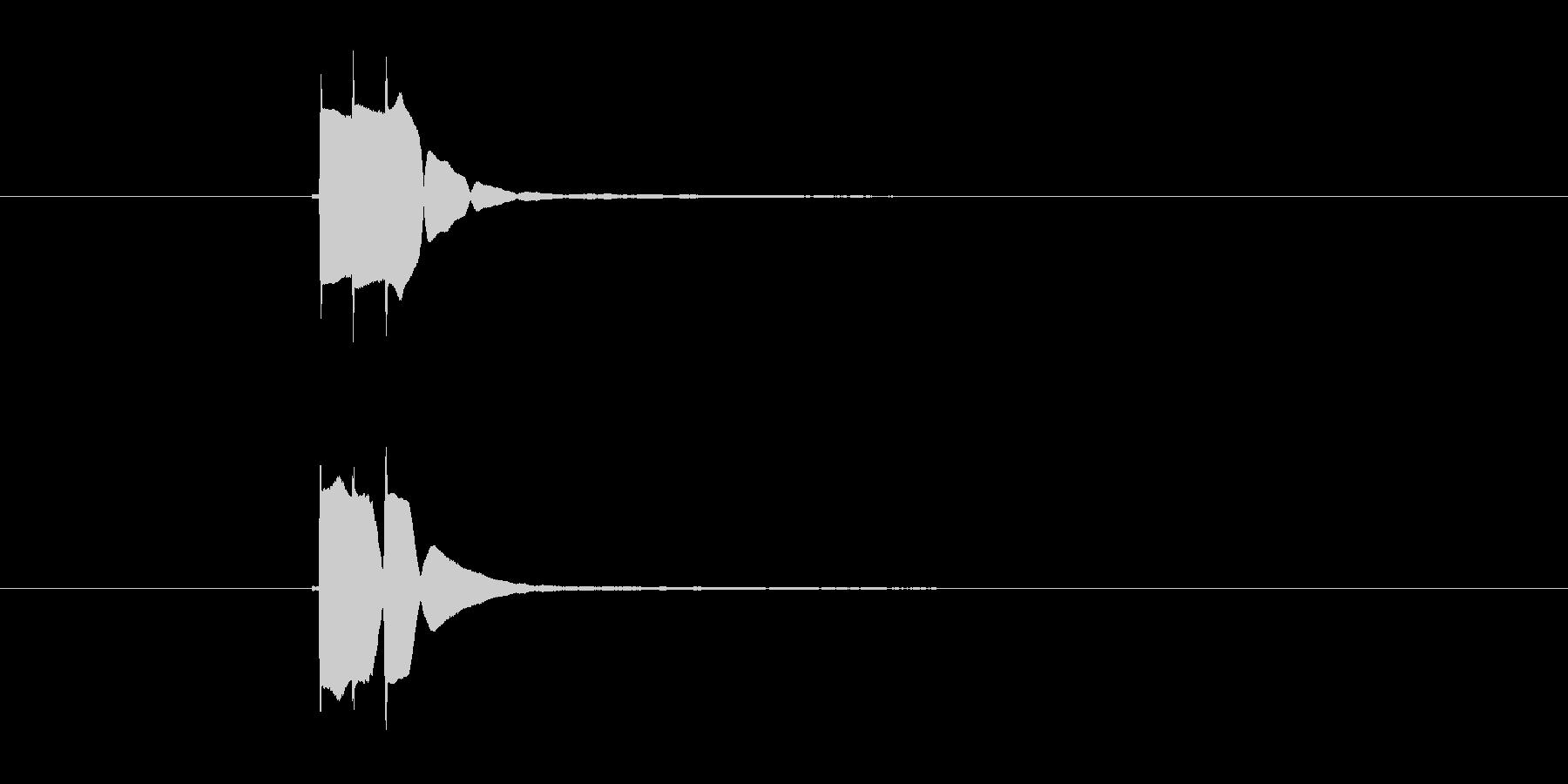 チャリーン(コインを獲得した音)の未再生の波形