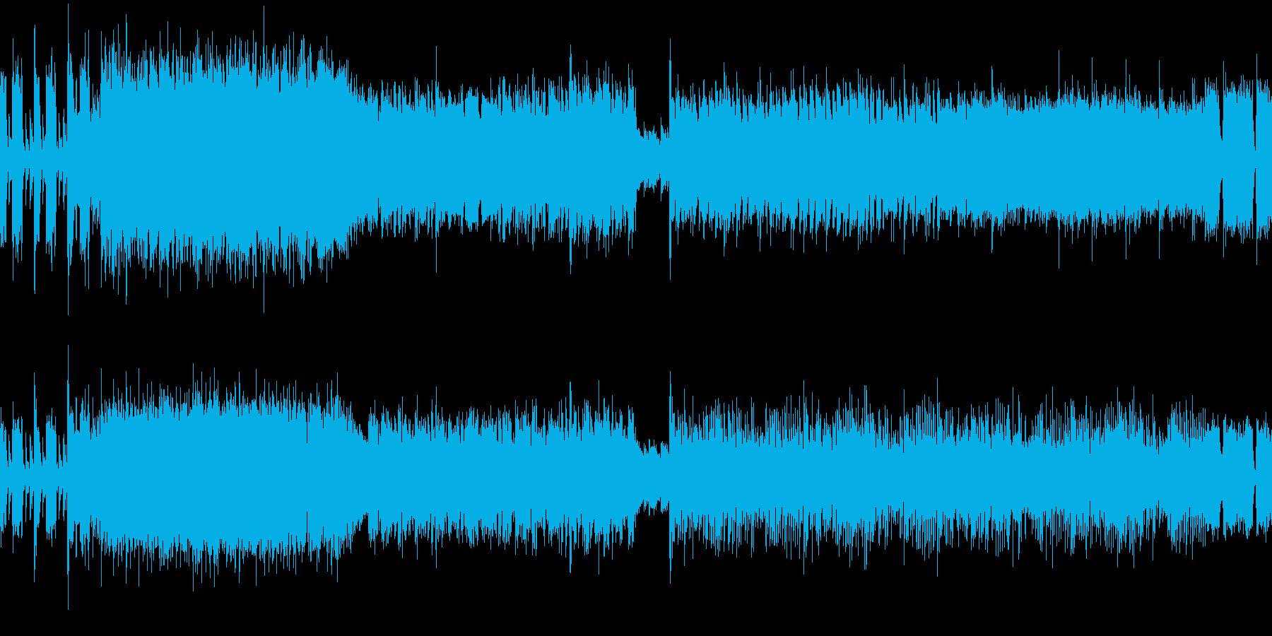シャープでエッジの効いたハードロックの再生済みの波形