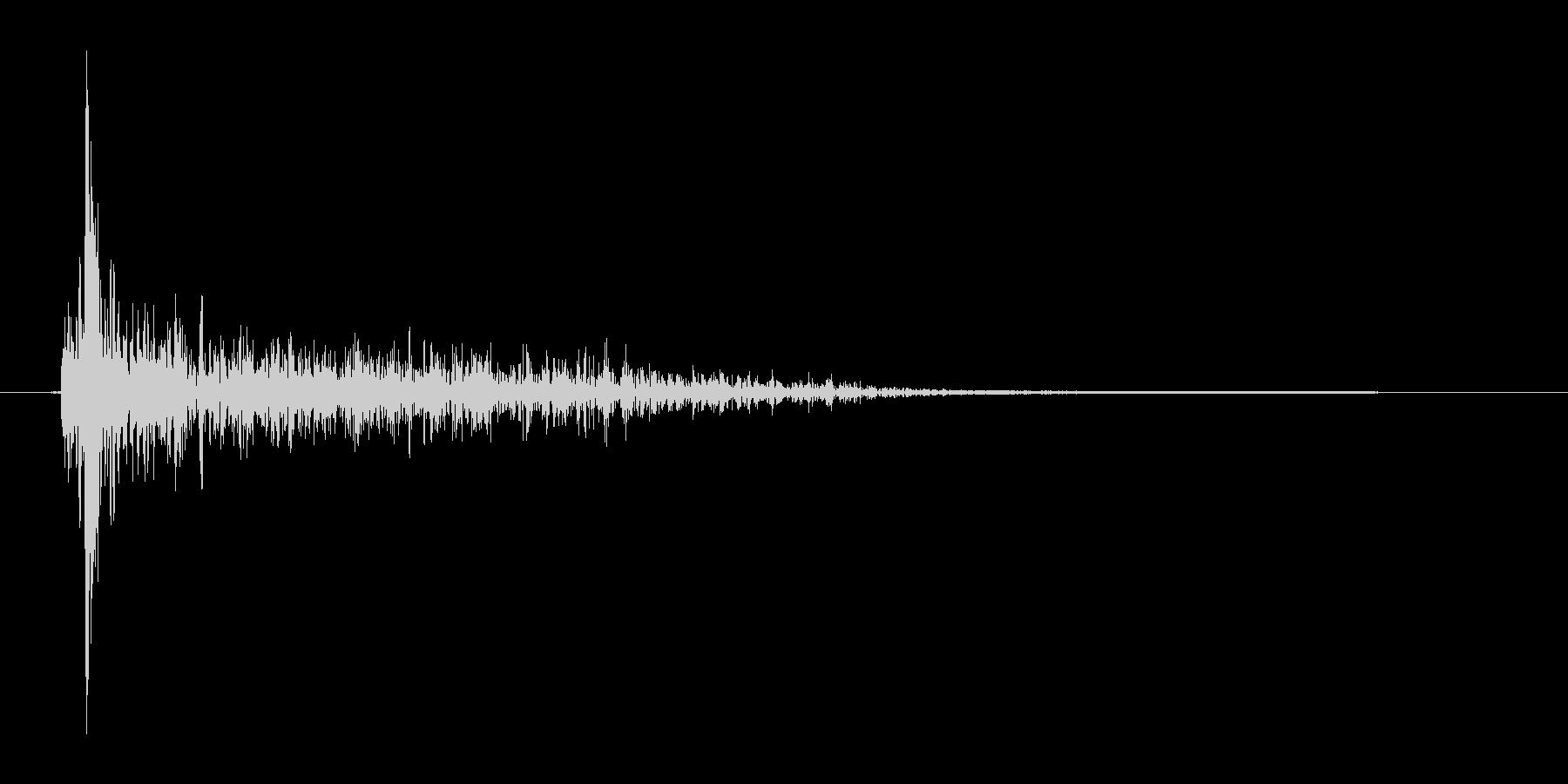 バシュッ(攻撃、消滅)の未再生の波形