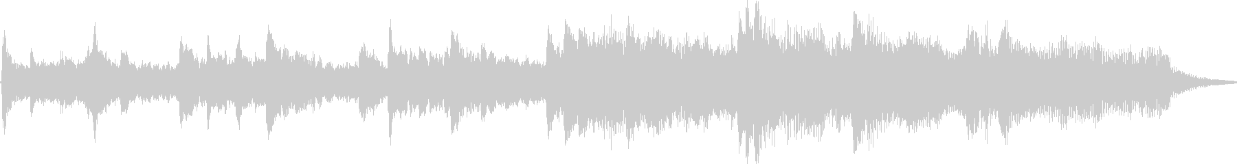 透き通ったピアノ音色が印象的なBGMの未再生の波形