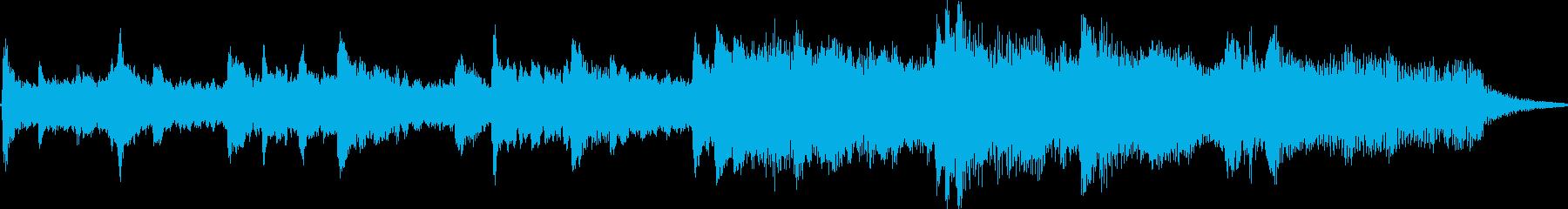 透き通ったピアノ音色が印象的なBGMの再生済みの波形