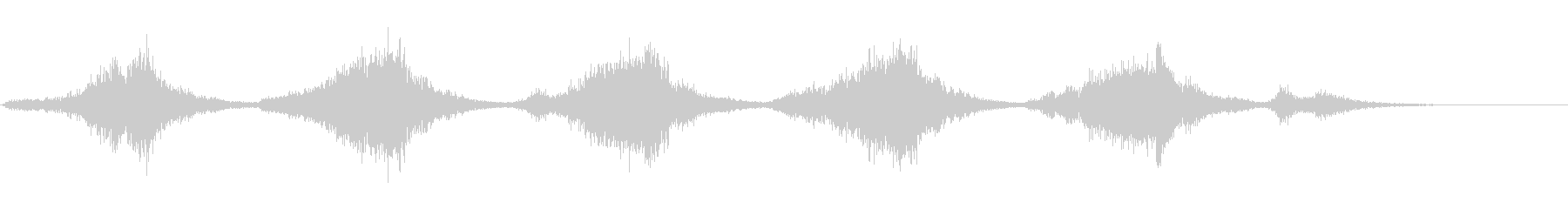オーケストラでサスペンスタッチに1の未再生の波形