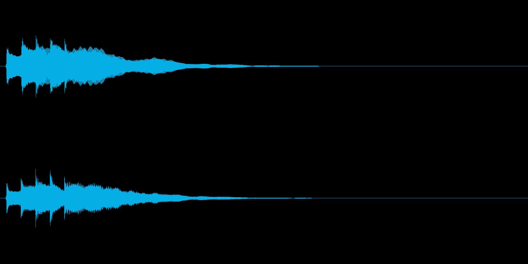 アイテム獲得やクイズで正解時の音の再生済みの波形