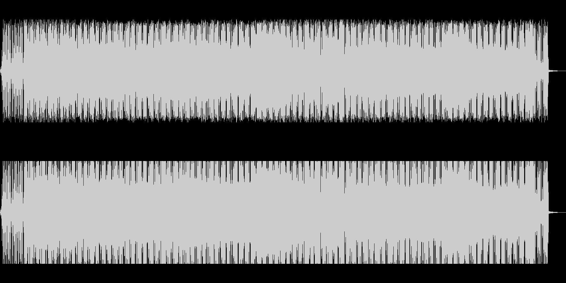 アンニュイなビートにギターのアルペジオの未再生の波形