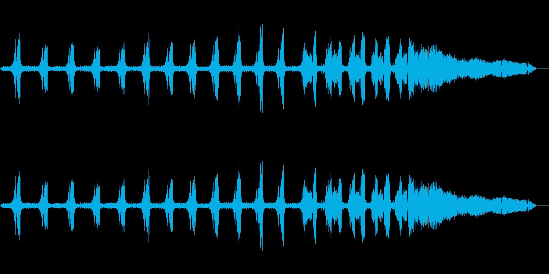 セミ(ツクツクボウシ)の鳴き声_その1の再生済みの波形