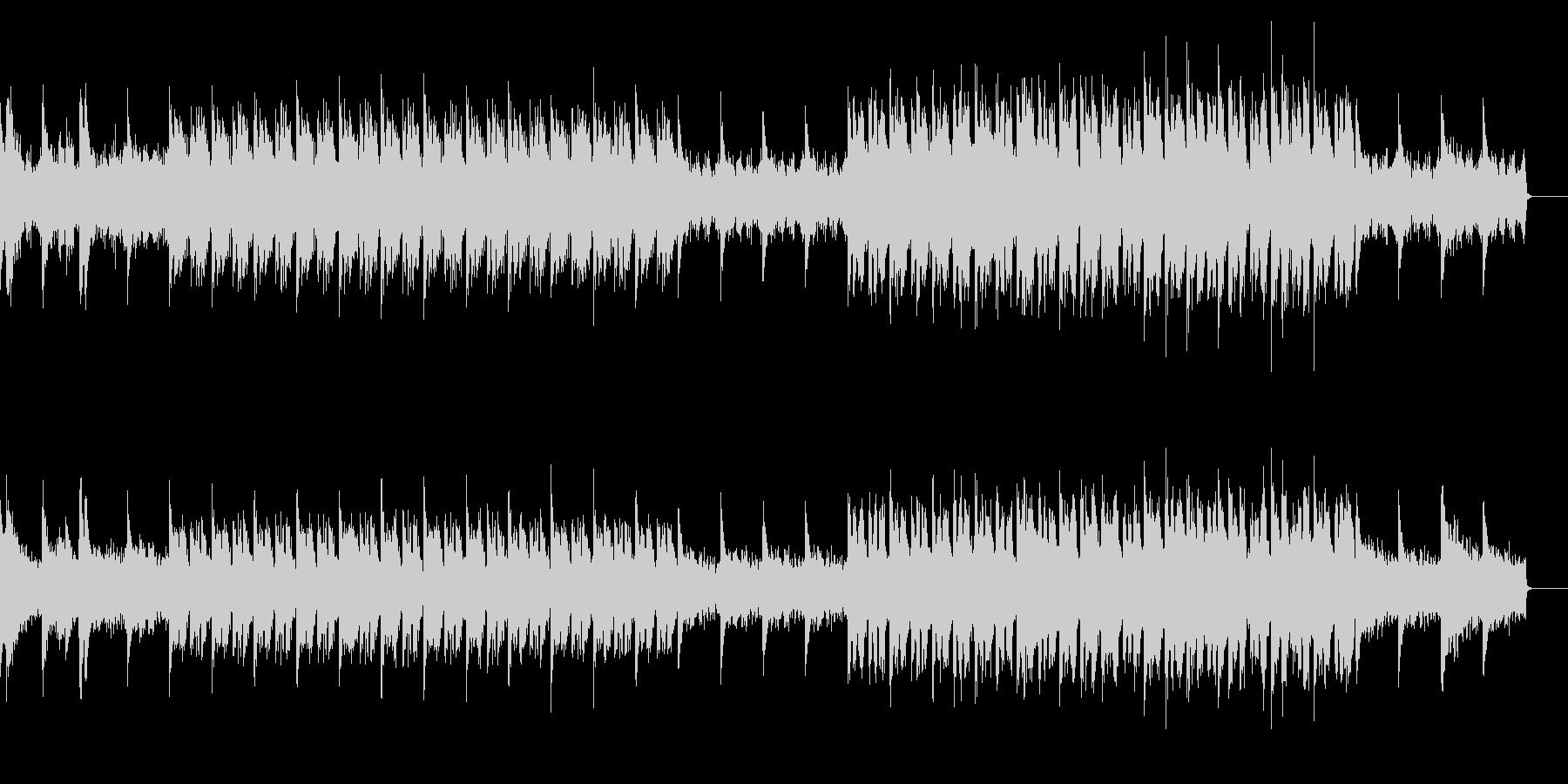 サイレントなホラー曲の未再生の波形