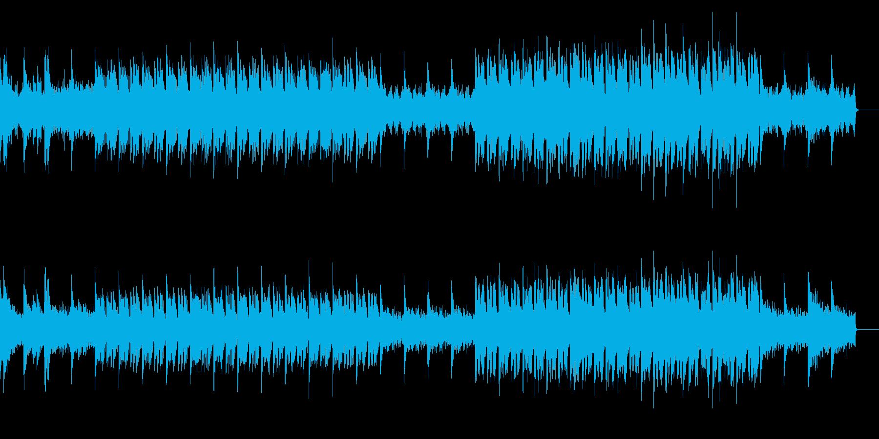 サイレントなホラー曲の再生済みの波形