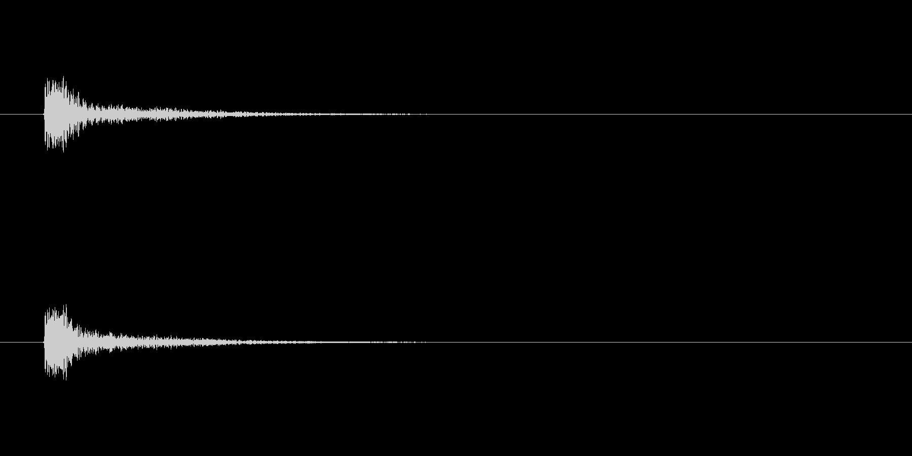 【カスタネット02-5】の未再生の波形