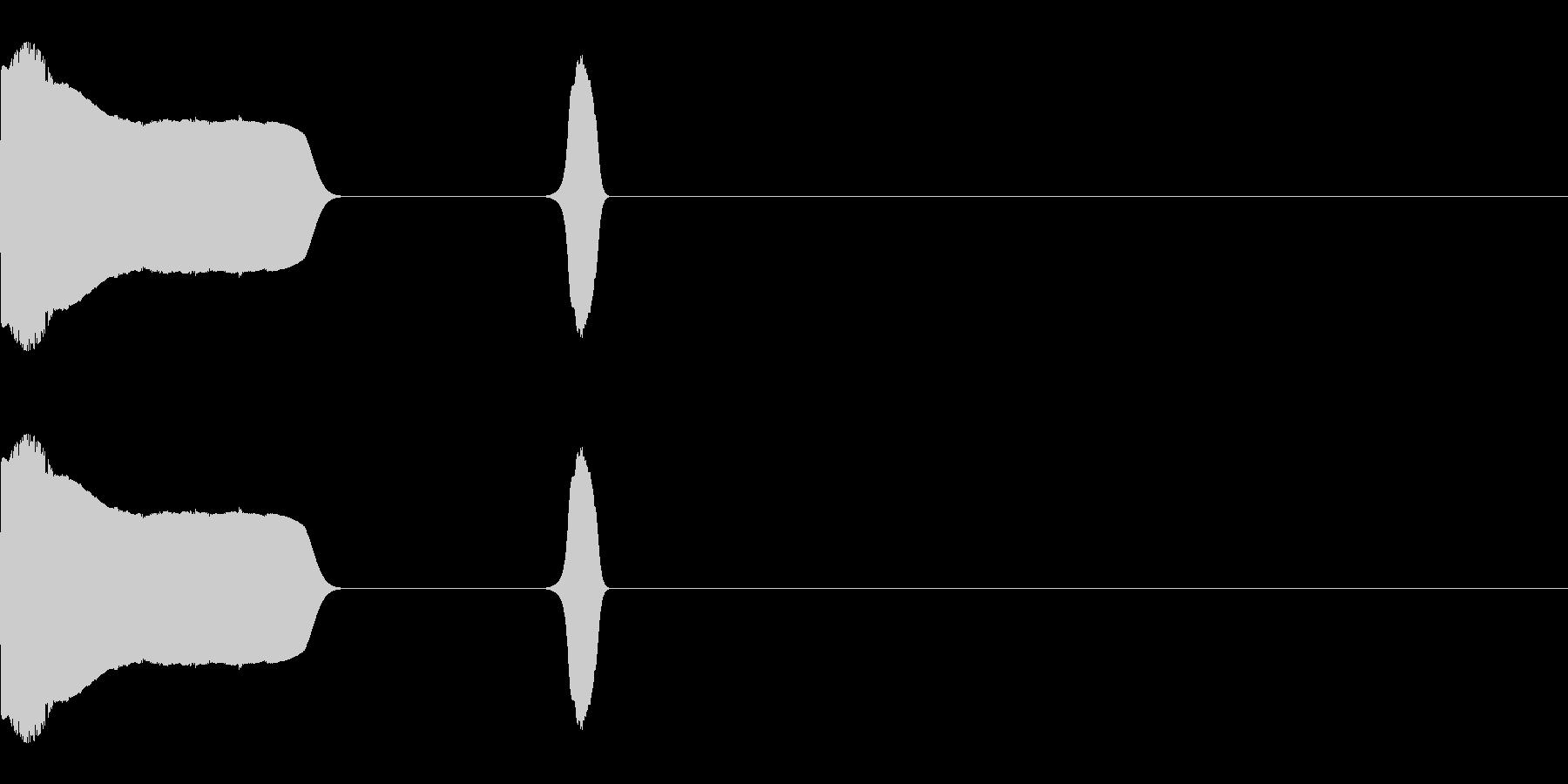 ジャンプして投げる音の未再生の波形