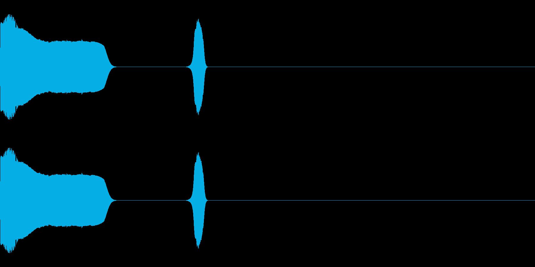 ジャンプして投げる音の再生済みの波形