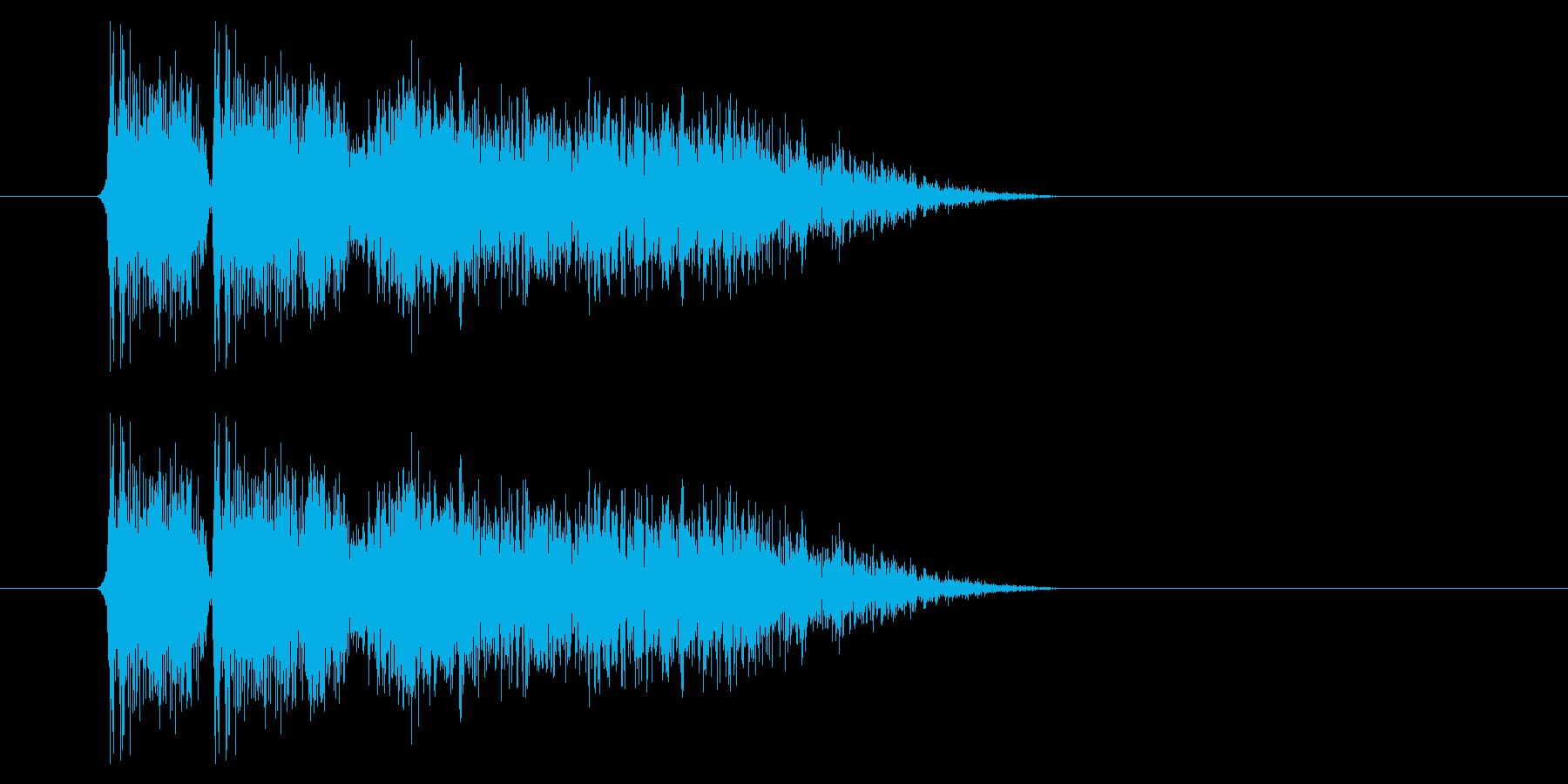 銃声01-2の再生済みの波形