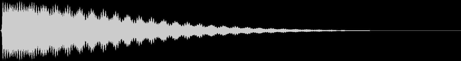 ごーん/お寺の鐘/大晦日/除夜の鐘の未再生の波形