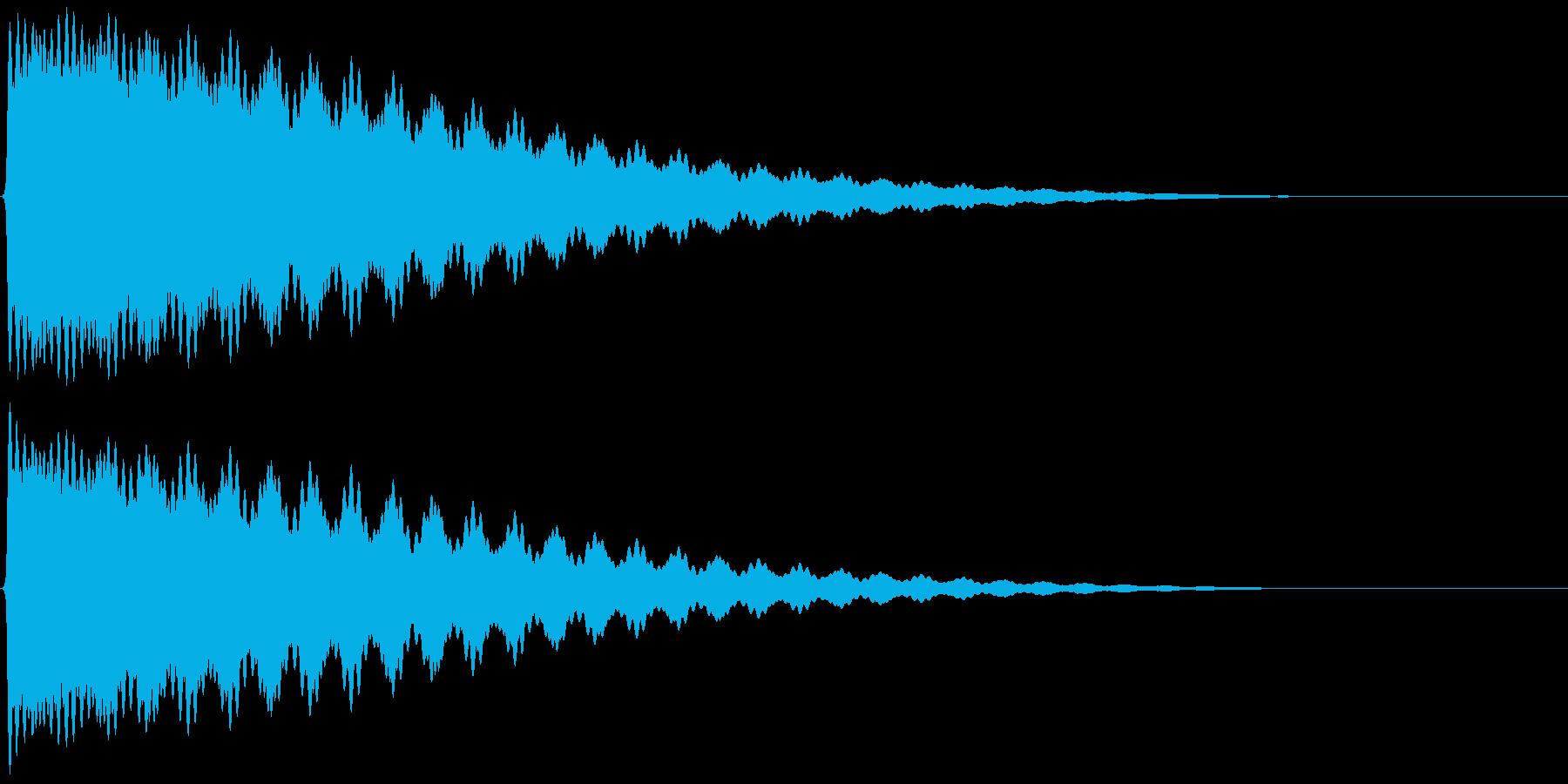 ごーん/お寺の鐘/大晦日/除夜の鐘の再生済みの波形