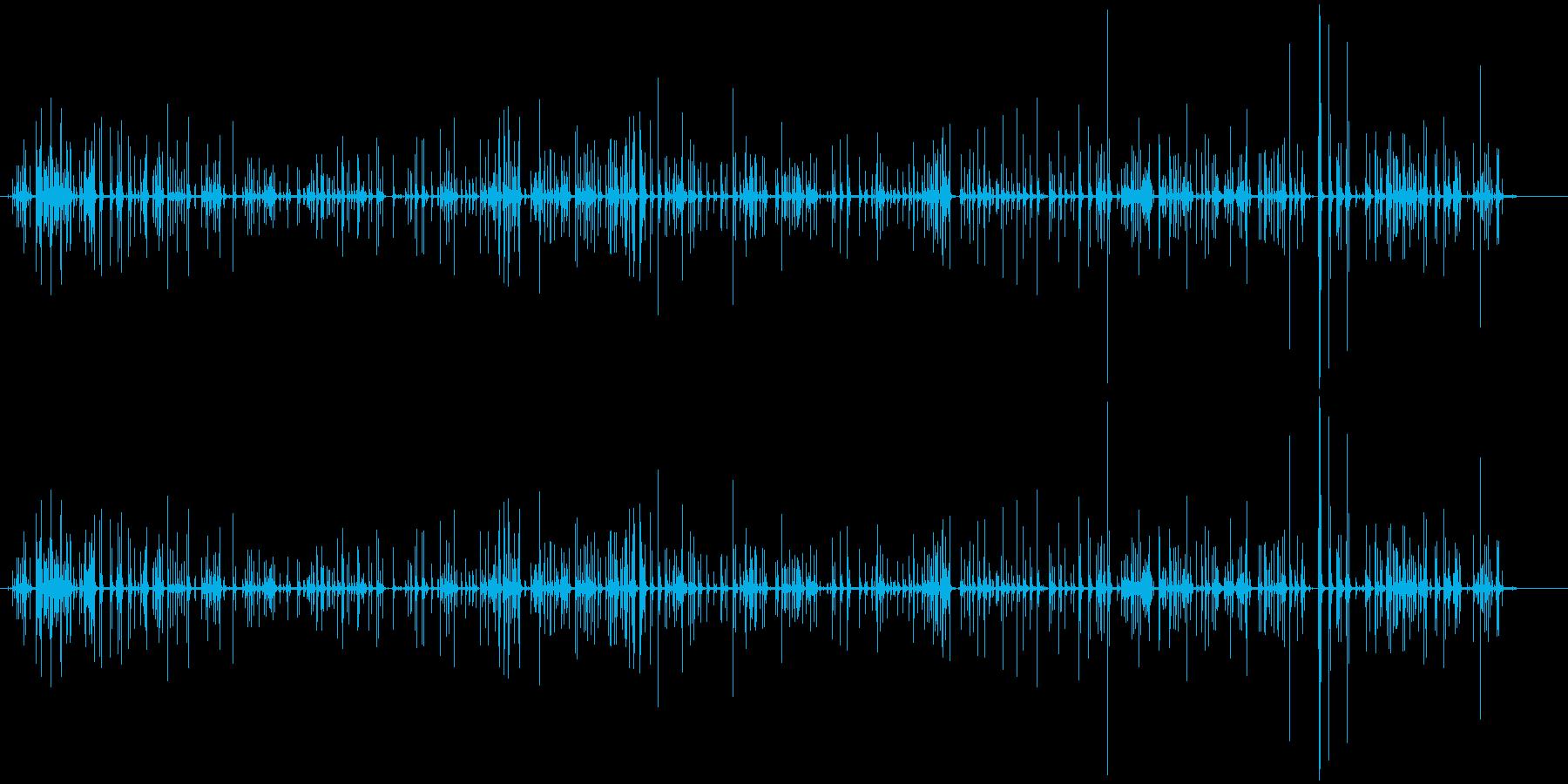 パソコンのキーボード打鍵音(カタカタ)の再生済みの波形