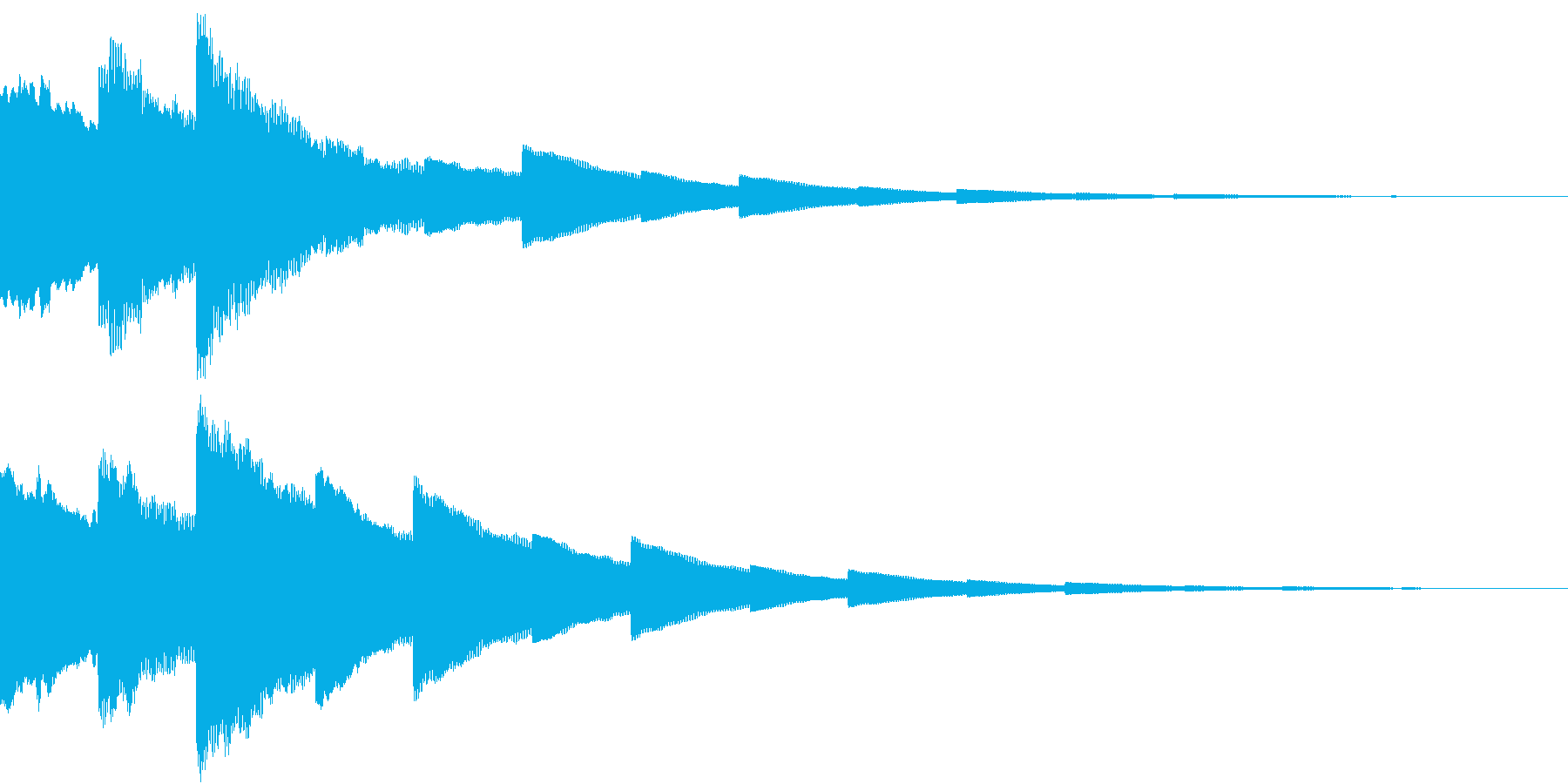 DigitalPay 決済音 3の再生済みの波形