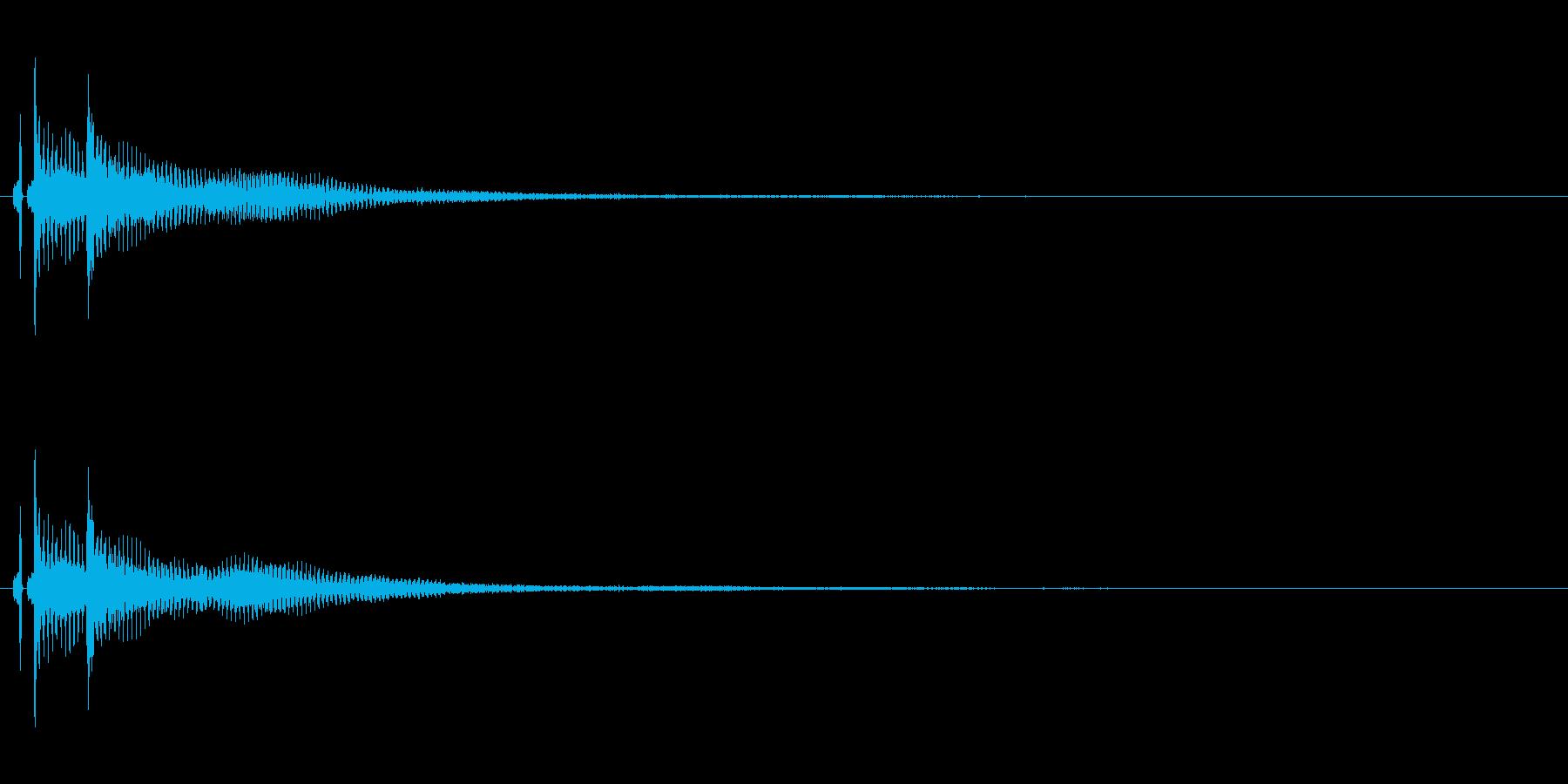 三味線。決定音。ベベン。の再生済みの波形