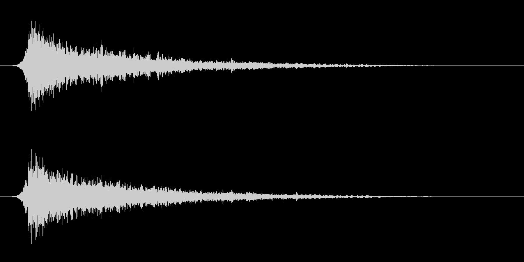 攻撃音。電撃系。ズシャーの未再生の波形