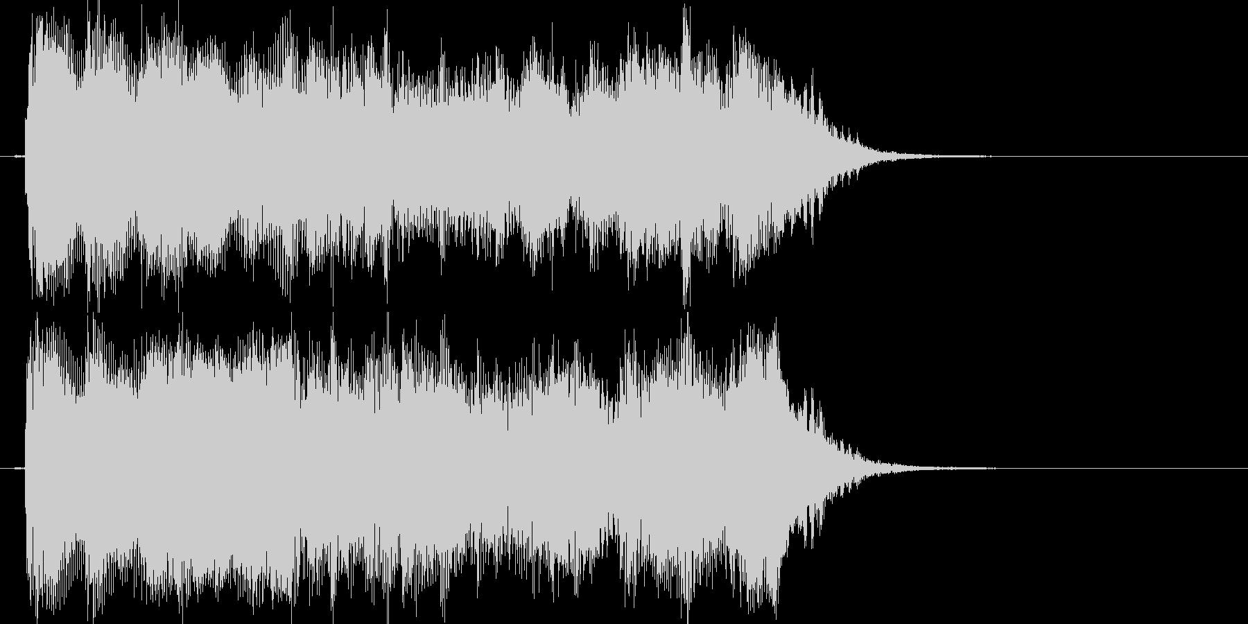 放送向けの軽快なポップファンクジングルの未再生の波形
