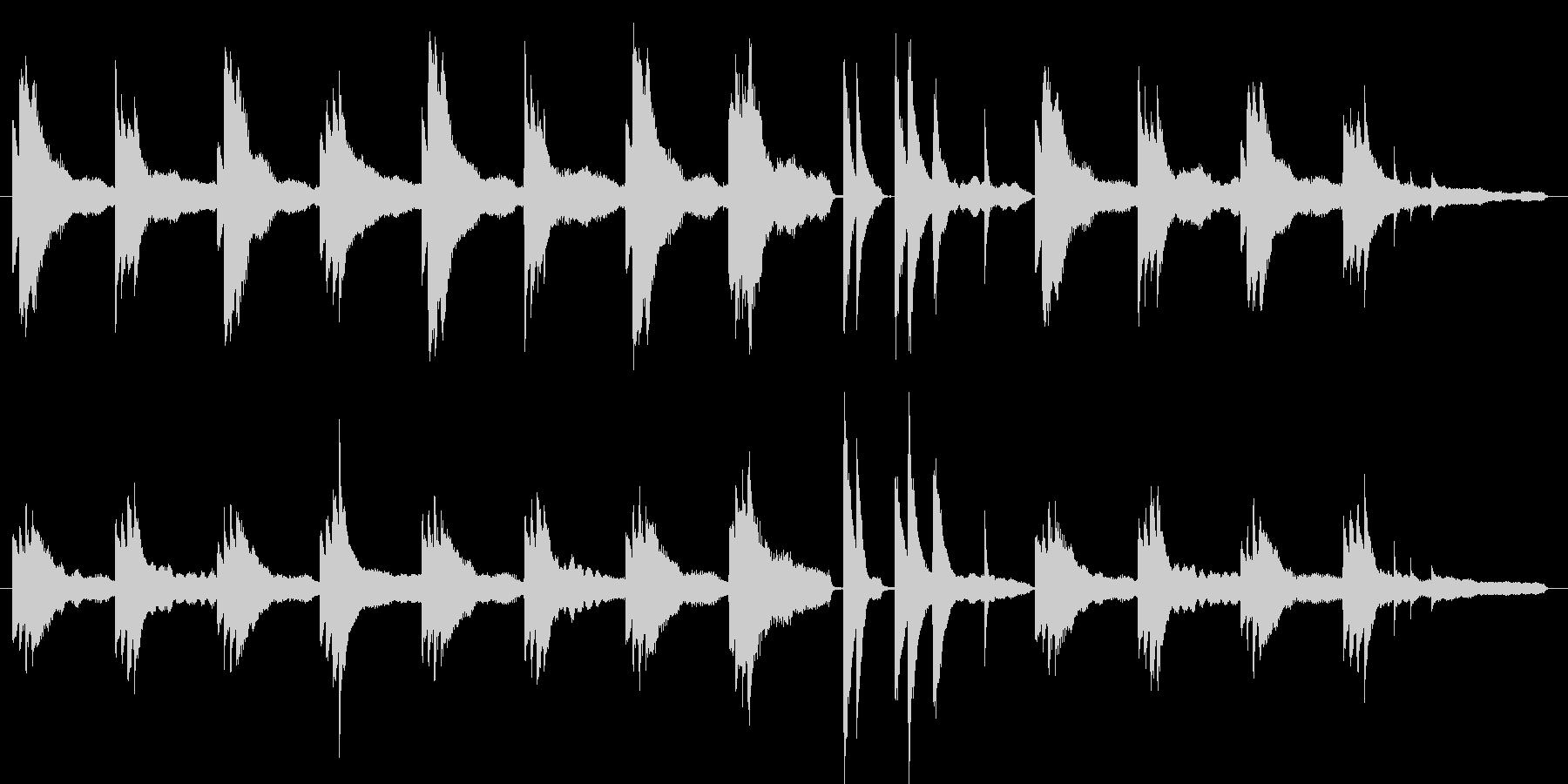 怪しい、不穏な空気のピアノソロ劇伴の未再生の波形